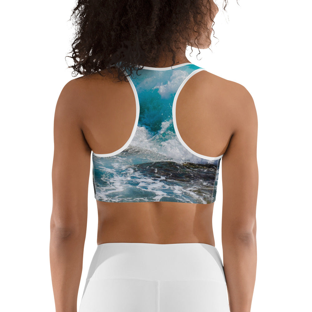 Sounds of the Sea Sports Bra