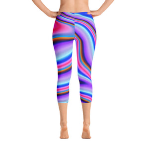 Rainbow Color Splash Capris - Saltgirl Clothing - Women's Saltwater Fishing Apparel and Swimwear
