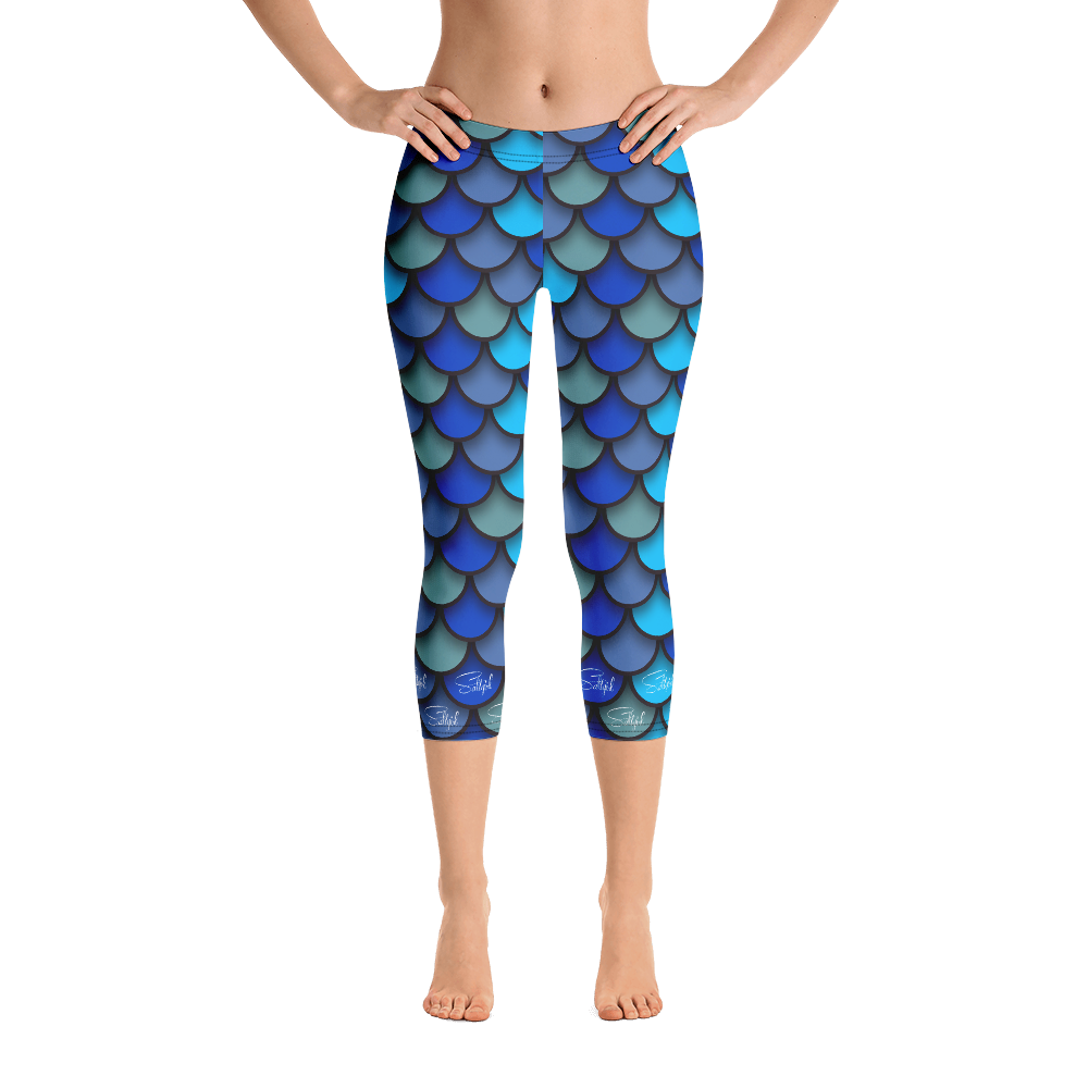 Mermaid Blue Capris