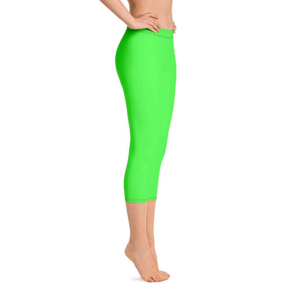 Neon Green Capris - Saltgirl Clothing - Women's Saltwater Fishing Apparel and Swimwear