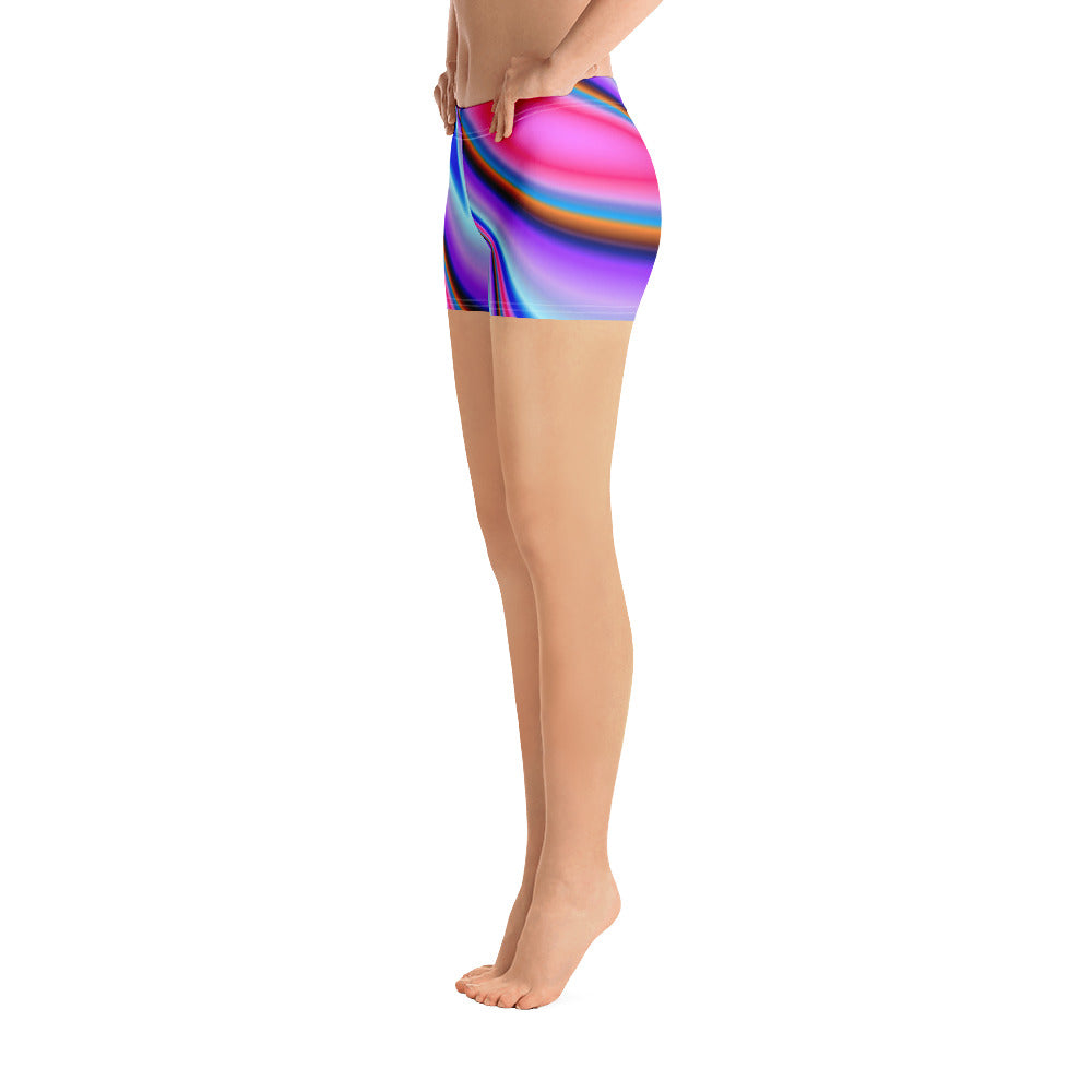 Rainbow Color Splash Print Shorts - Saltgirl Clothing - Women's Saltwater Fishing Apparel and Swimwear