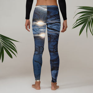 Bluewater Shimmer Leggings - Saltgirl Clothing - Women's Saltwater Fishing Apparel and Swimwear