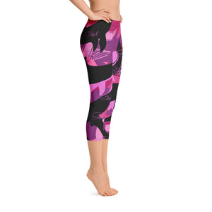 Dolphin /Whale Camo Capris - Saltgirl Clothing - Women's Saltwater Fishing Apparel and Swimwear