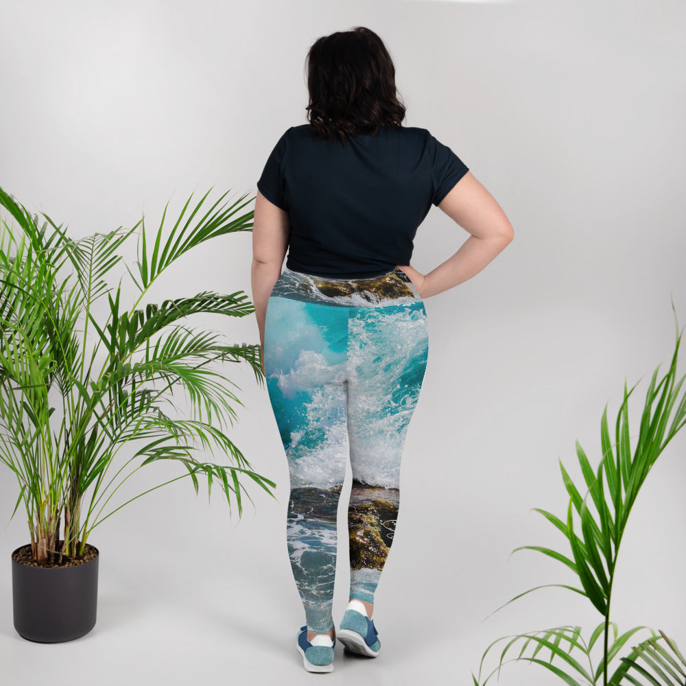 Sounds of the Sea Plus Size Leggings