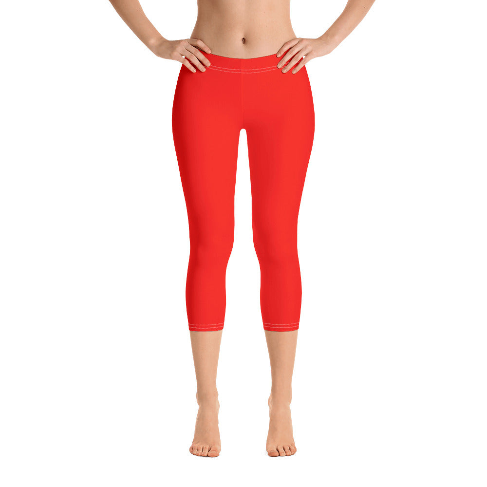 Jellyfish Orange Capris - Saltgirl Clothing - Women's Saltwater Fishing Apparel and Swimwear