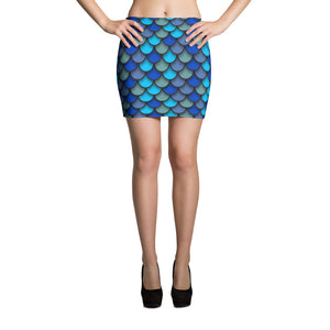 Blue Fish Scales Mini Skirt - Saltgirl Clothing - Women's Saltwater Fishing Apparel and Swimwear