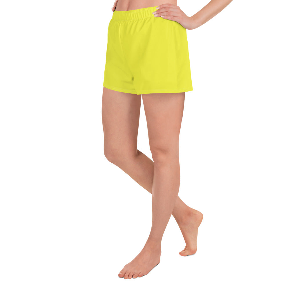Lemon Yellow Athletic Shorts - Saltgirl Clothing - Women's Saltwater Fishing Apparel and Swimwear
