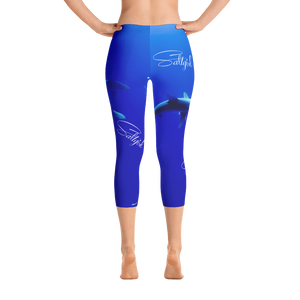 Saltgirl Shark Capris - Saltgirl Clothing - Women's Saltwater Fishing Apparel and Swimwear
