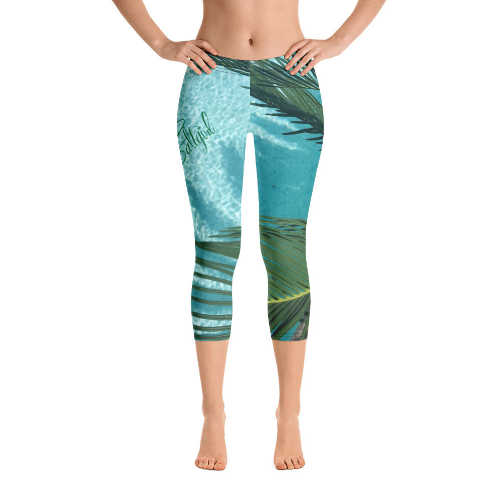 Palm Tree Sunshine Capri