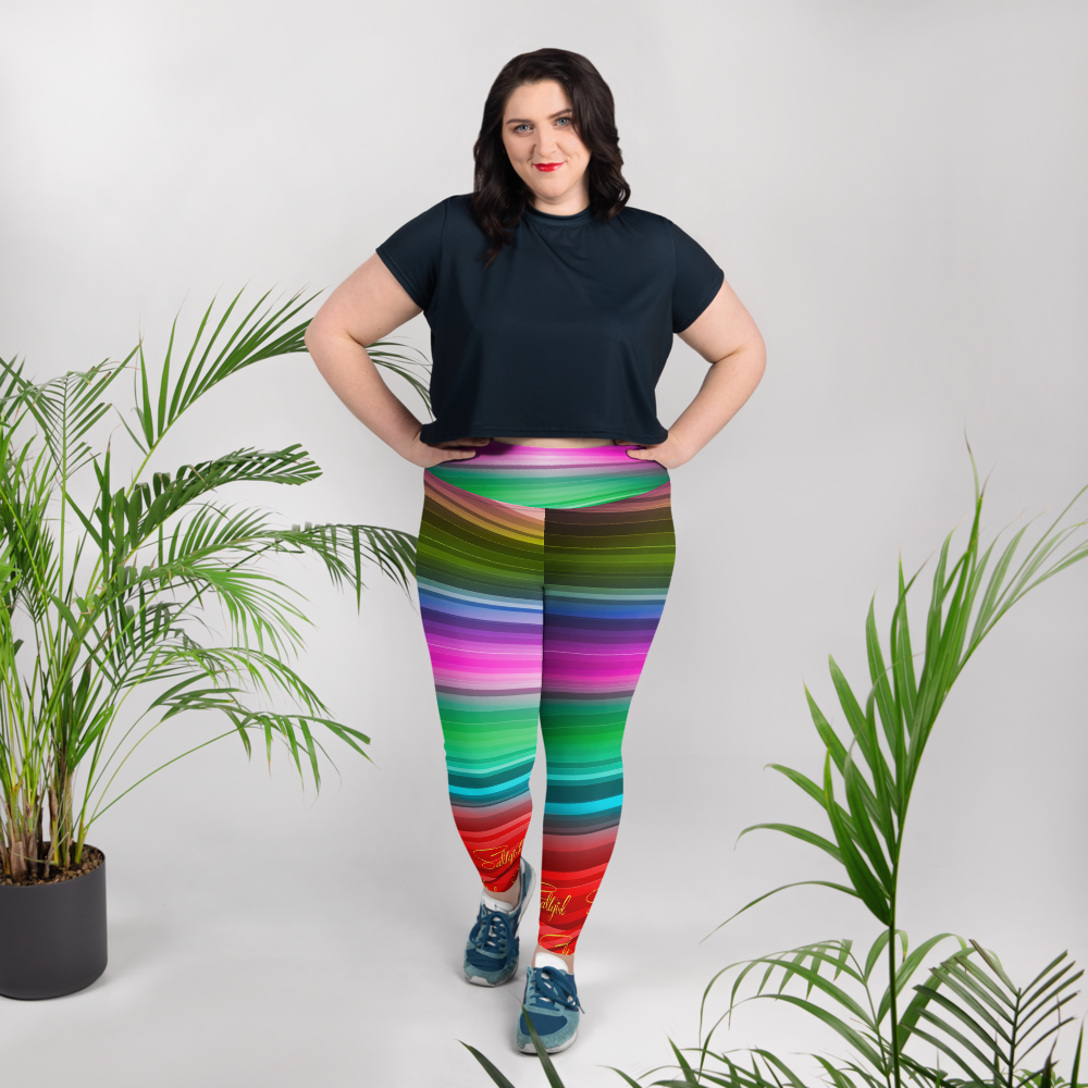 Sea Coral Swirl Plus Size Leggings
