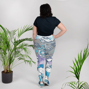 Sea Adventures Plus Size Leggings - Saltgirl Clothing - Women's Saltwater Fishing Apparel and Swimwear