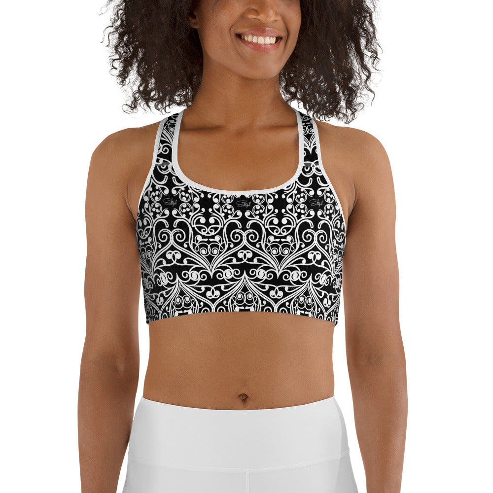 Black Sea Fan Sports Bra
