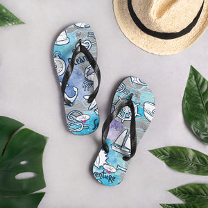 Sea Adventure Flip-Flops - Saltgirl Clothing - Women's Saltwater Fishing Apparel and Swimwear