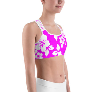 Hawaiian Beauty Sports bra - Saltgirl Clothing - Women's Saltwater Fishing Apparel and Swimwear