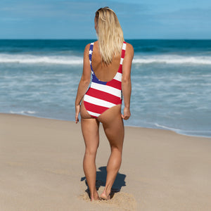 USA One-Piece Swimsuit - Saltgirl Clothing - Women's Saltwater Fishing Apparel and Swimwear
