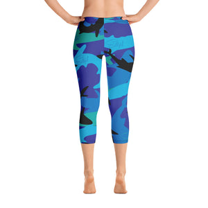 Shark Camo Capris - Saltgirl Clothing - Women's Saltwater Fishing Apparel and Swimwear