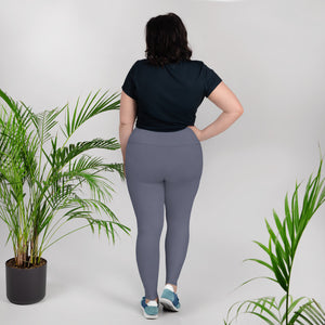 Charcoal Blue Plus Size Leggings - Saltgirl Clothing - Women's Saltwater Fishing Apparel and Swimwear