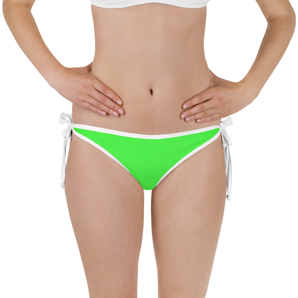 Neon Green Fish Reversible Bikini Bottom - Saltgirl Clothing - Women's Saltwater Fishing Apparel and Swimwear