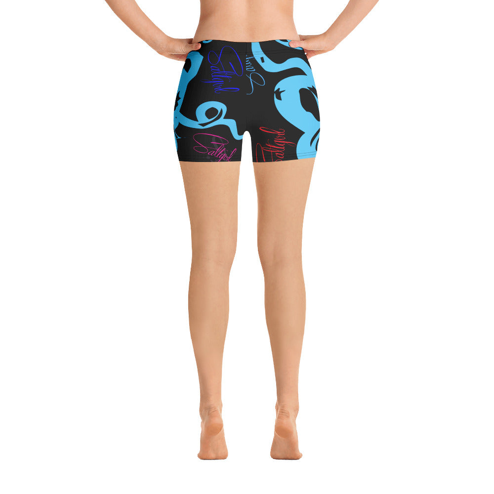 Blue Octopus Print Shorts - Saltgirl Clothing - Women's Saltwater Fishing Apparel and Swimwear