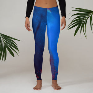 Bioluminescence Blue Saltgirl   Leggings