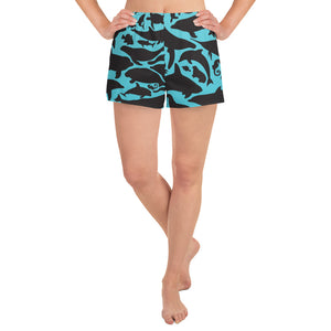 Sea Creatures Athletic Shorts - Saltgirl Clothing - Women's Saltwater Fishing Apparel and Swimwear
