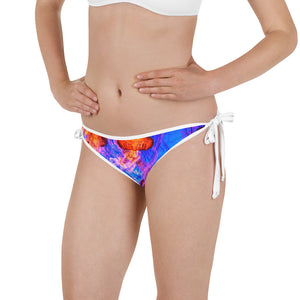 Jellyfish Orange Reversible Bikini Bottom - Saltgirl Clothing - Women's Saltwater Fishing Apparel and Swimwear