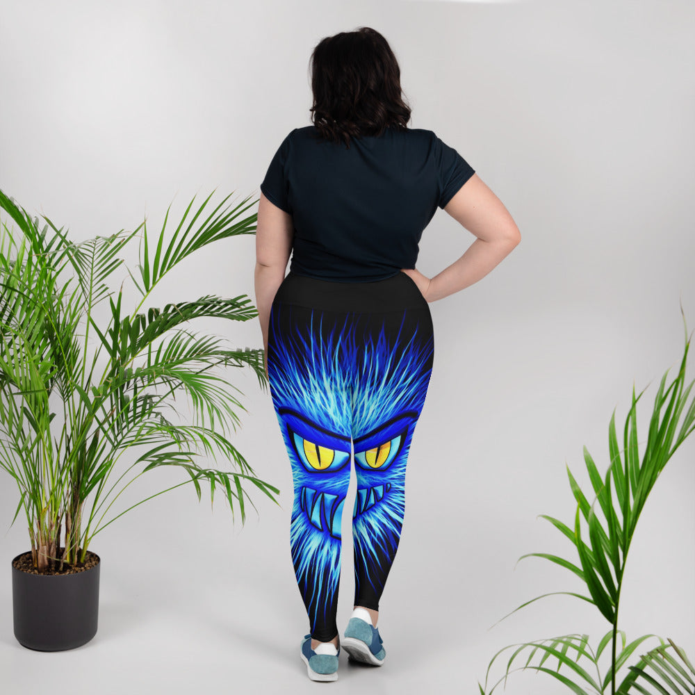 Creature from the Blue Lagoon Plus Size Leggings