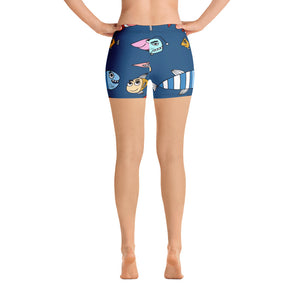 Funny Fish Print Shorts - Saltgirl Clothing - Women's Saltwater Fishing Apparel and Swimwear