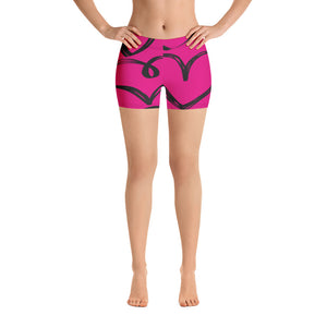 Pink Heart Print Shorts - Saltgirl Clothing - Women's Saltwater Fishing Apparel and Swimwear