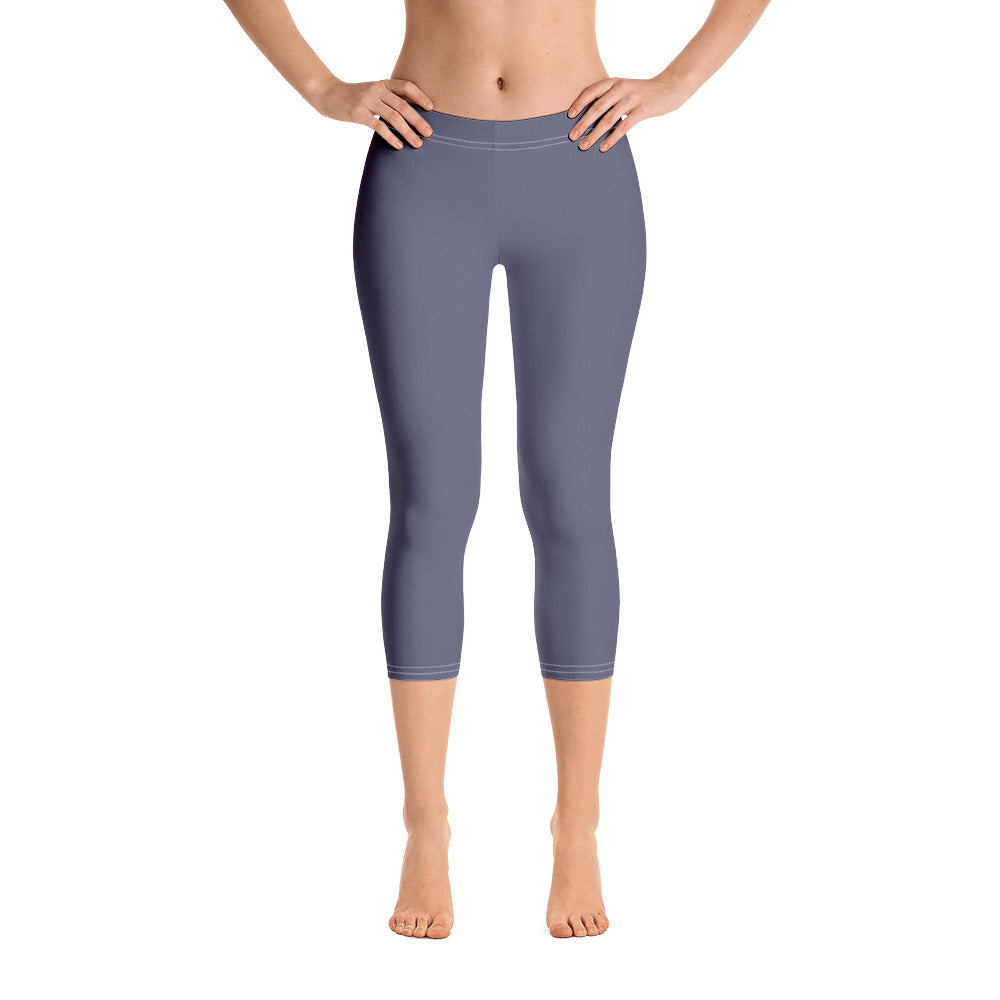 Charcoal Blue Capris - Saltgirl Clothing - Women's Saltwater Fishing Apparel and Swimwear