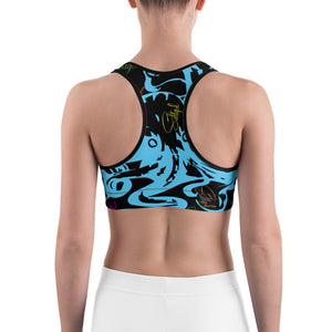 Blue Octopus Sports Bra - Saltgirl Clothing - Women's Saltwater Fishing Apparel and Swimwear