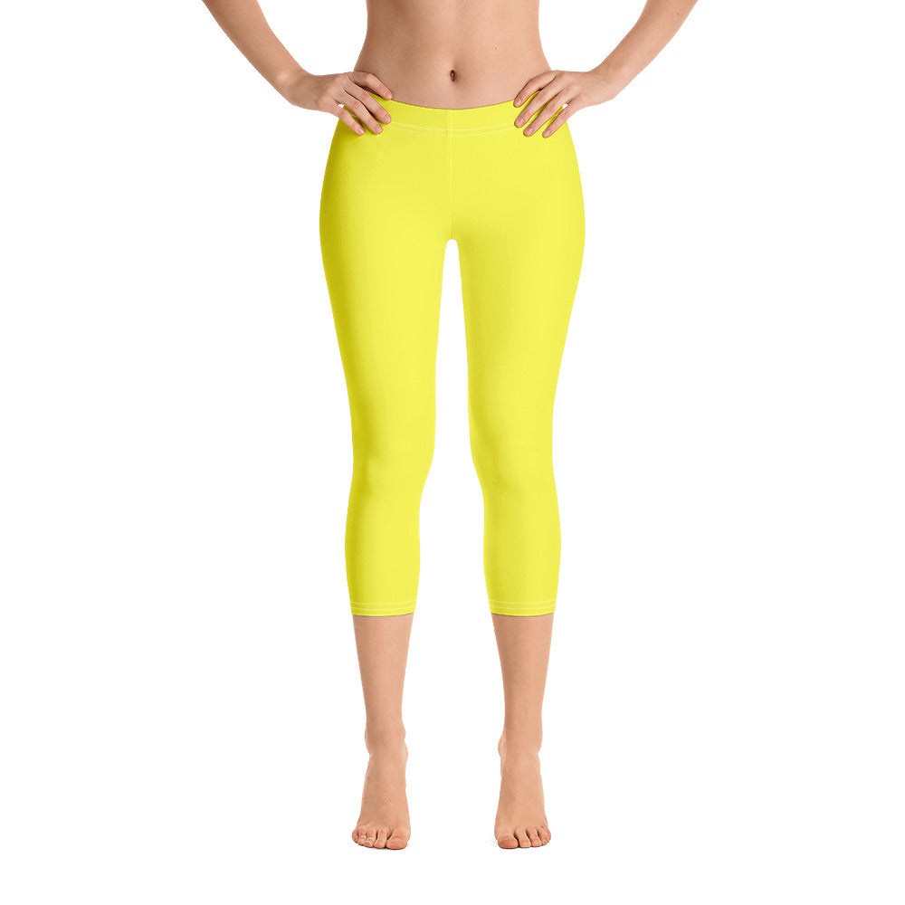 Lemon Yellow Capris - Saltgirl Clothing - Women's Saltwater Fishing Apparel and Swimwear
