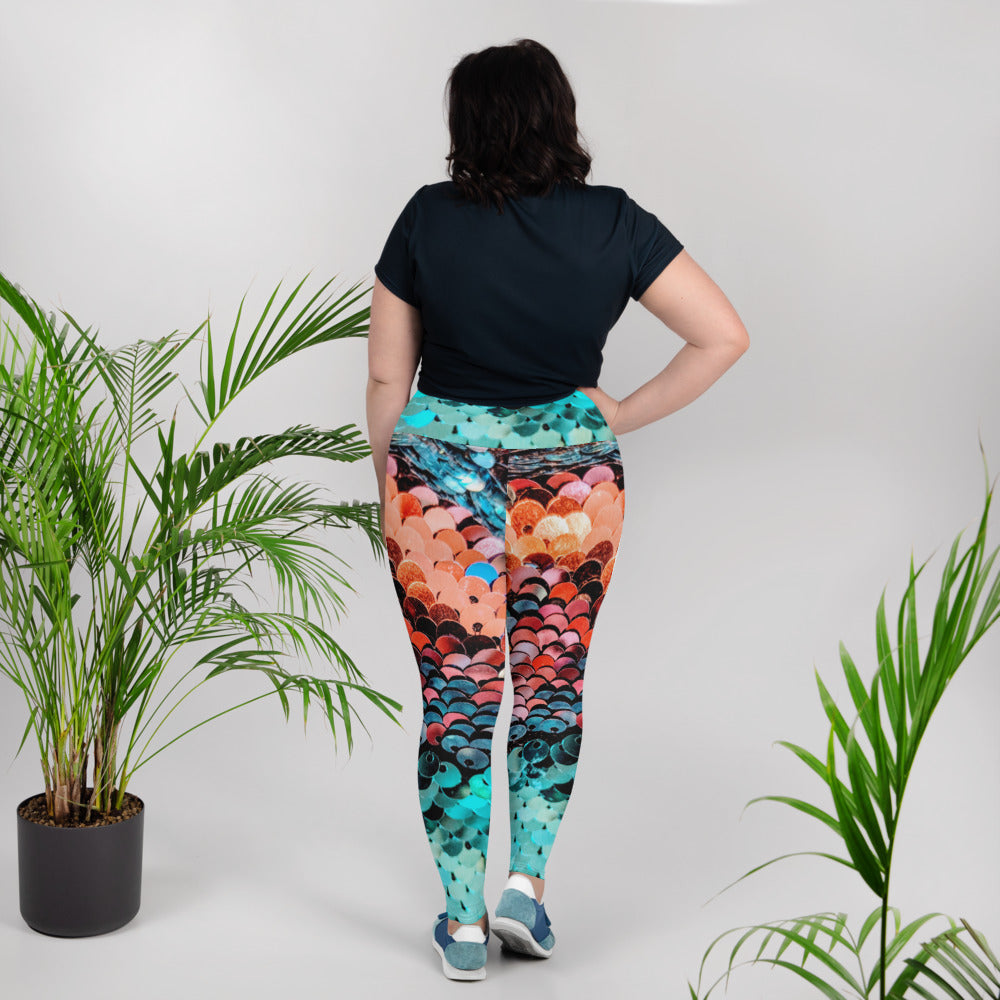 Ocean Ombre Plus Size Leggings - Saltgirl Clothing - Women's Saltwater Fishing Apparel and Swimwear