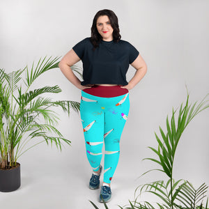 Lora Lure Plus Size Leggings - Saltgirl Clothing - Women's Saltwater Fishing Apparel and Swimwear