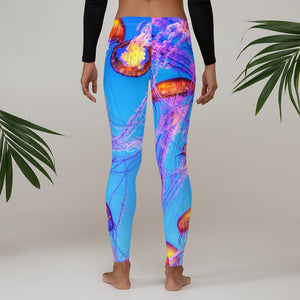 Saltgirl Jellyfish  Leggings - Saltgirl Clothing - Women's Saltwater Fishing Apparel and Swimwear