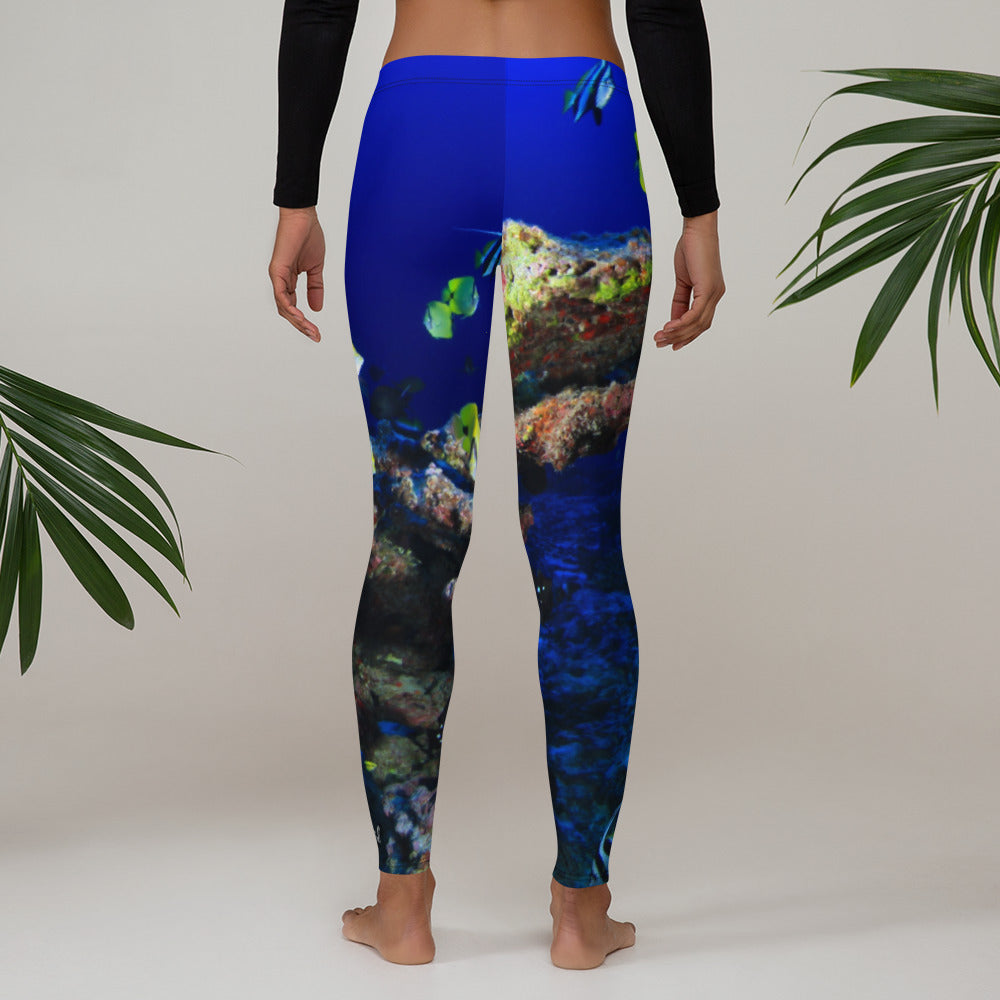 Ocean of Fish Leggings - Saltgirl Clothing - Women's Saltwater Fishing Apparel and Swimwear