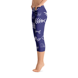 Rene's Fishbone Blues Capris - Saltgirl Clothing - Women's Saltwater Fishing Apparel and Swimwear