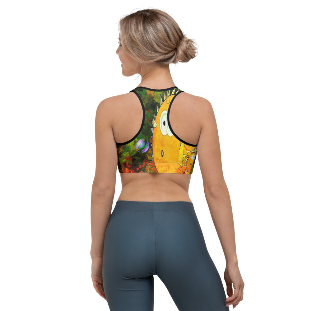 Orange Ya Fishing Today? Sports Bra