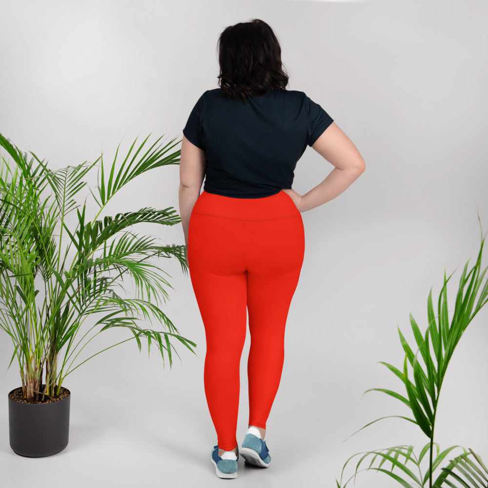 Jellyfish Orange Plus Size Leggings - Saltgirl Clothing - Women's Saltwater Fishing Apparel and Swimwear