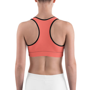 Cabana Coral Sports bra - Saltgirl Clothing - Women's Saltwater Fishing Apparel and Swimwear
