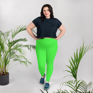 Neon Green  Plus Size Leggings - Saltgirl Clothing - Women's Saltwater Fishing Apparel and Swimwear
