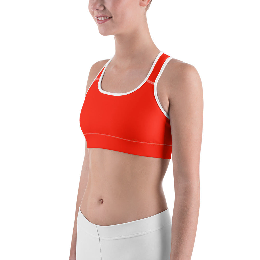 Jellyfish Orange Sports bra - Saltgirl Clothing - Women's Saltwater Fishing Apparel and Swimwear