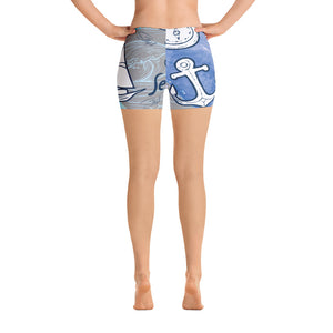 Sea Adventure Print Shorts - Saltgirl Clothing - Women's Saltwater Fishing Apparel and Swimwear
