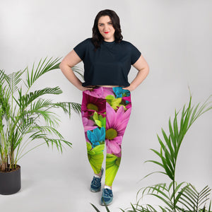 Kaleidoscope Plus Size Leggings - Saltgirl Clothing - Women's Saltwater Fishing Apparel and Swimwear