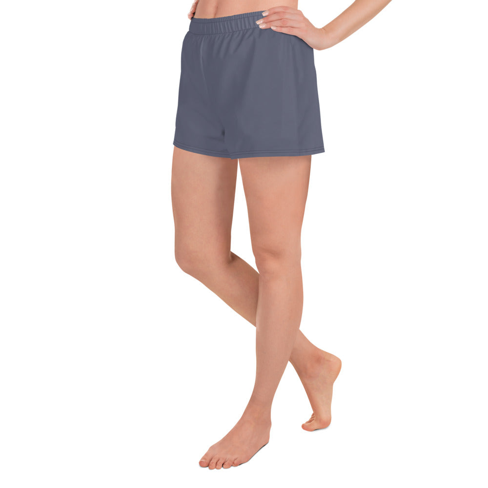 Charcoal Blue Athletic Shorts - Saltgirl Clothing - Women's Saltwater Fishing Apparel and Swimwear