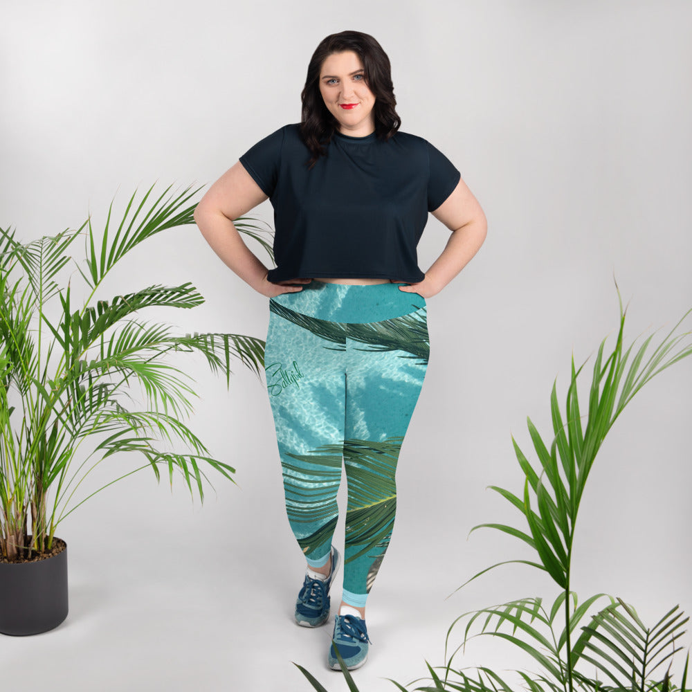 Palm Tree Sunshine Plus Size Leggings