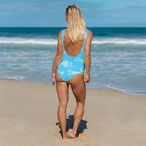 Blue Fishbone One-Piece - Saltgirl Clothing - Women's Saltwater Fishing Apparel and Swimwear