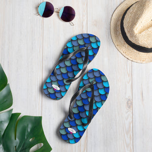 Blue Scale Flip-Flops - Saltgirl Clothing - Women's Saltwater Fishing Apparel and Swimwear