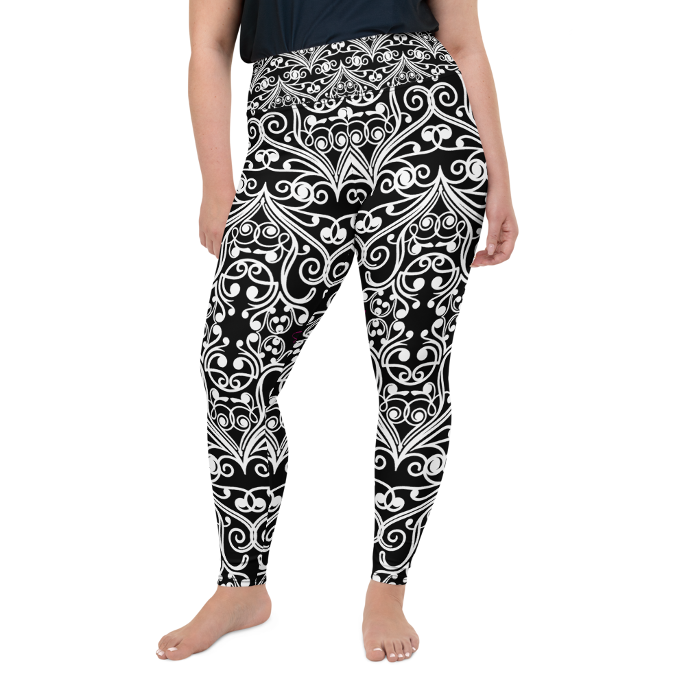 Black Sea Fan Plus Size Leggings