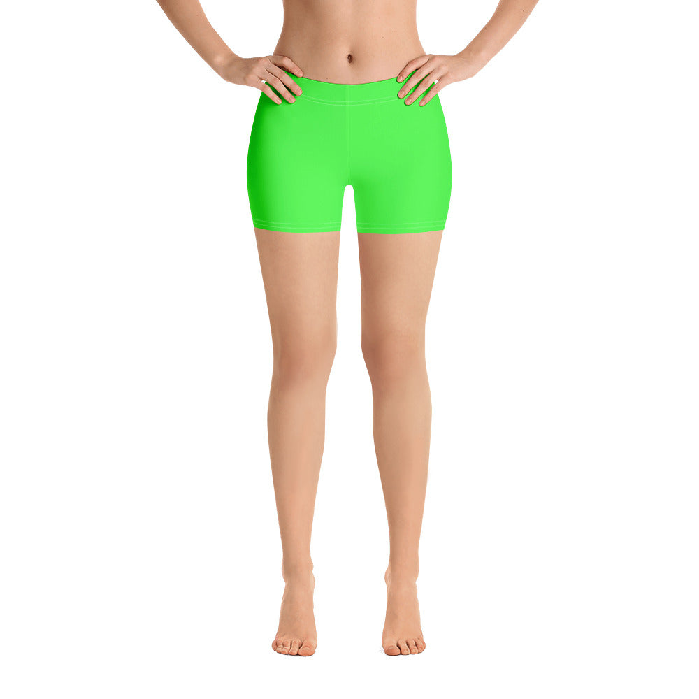 Neon Green Print Shorts - Saltgirl Clothing - Women's Saltwater Fishing Apparel and Swimwear